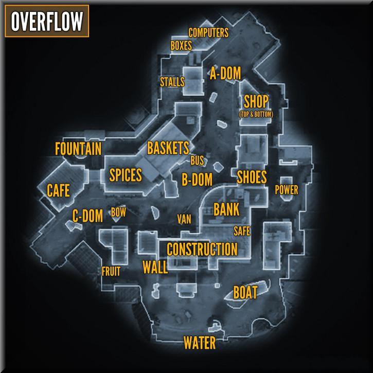 Call of Duty Black Ops 2 Maps Taktik Görünüm - Overflow