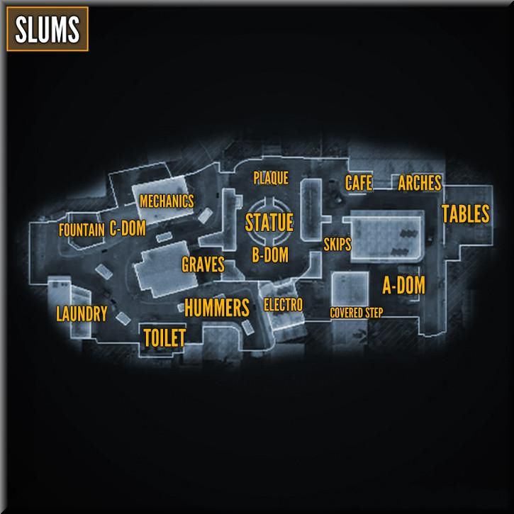 Call of Duty Black Ops 2 Maps Taktik Görünüm - Slums