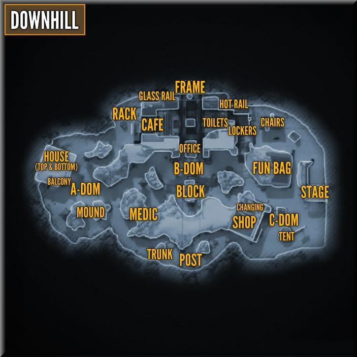 Call of Duty Black Ops 2 Maps Taktik Görünüm - Downhill