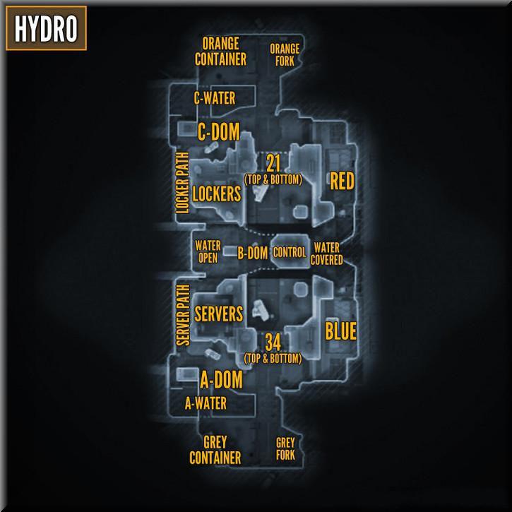 Call of Duty Black Ops 2 Maps Taktik Görünüm - Hydro