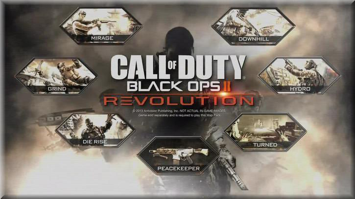Call of Duty Black Ops 2 Revolution Pack Maps List