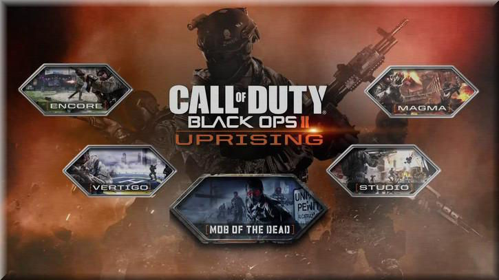 Call of Duty Black Ops 2 Uprising Pack Maps List