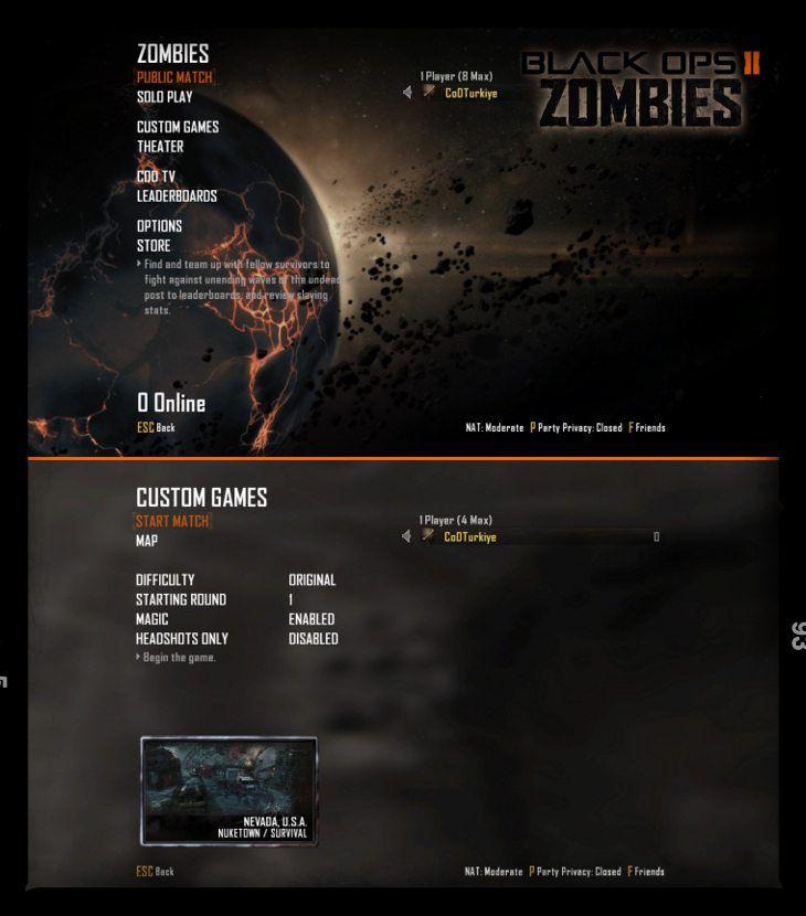 Black Ops 2 Zombie Public Match