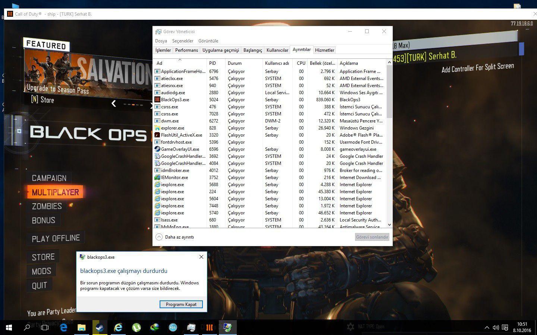 Black Ops 3 Çalışmayı Durdurdu