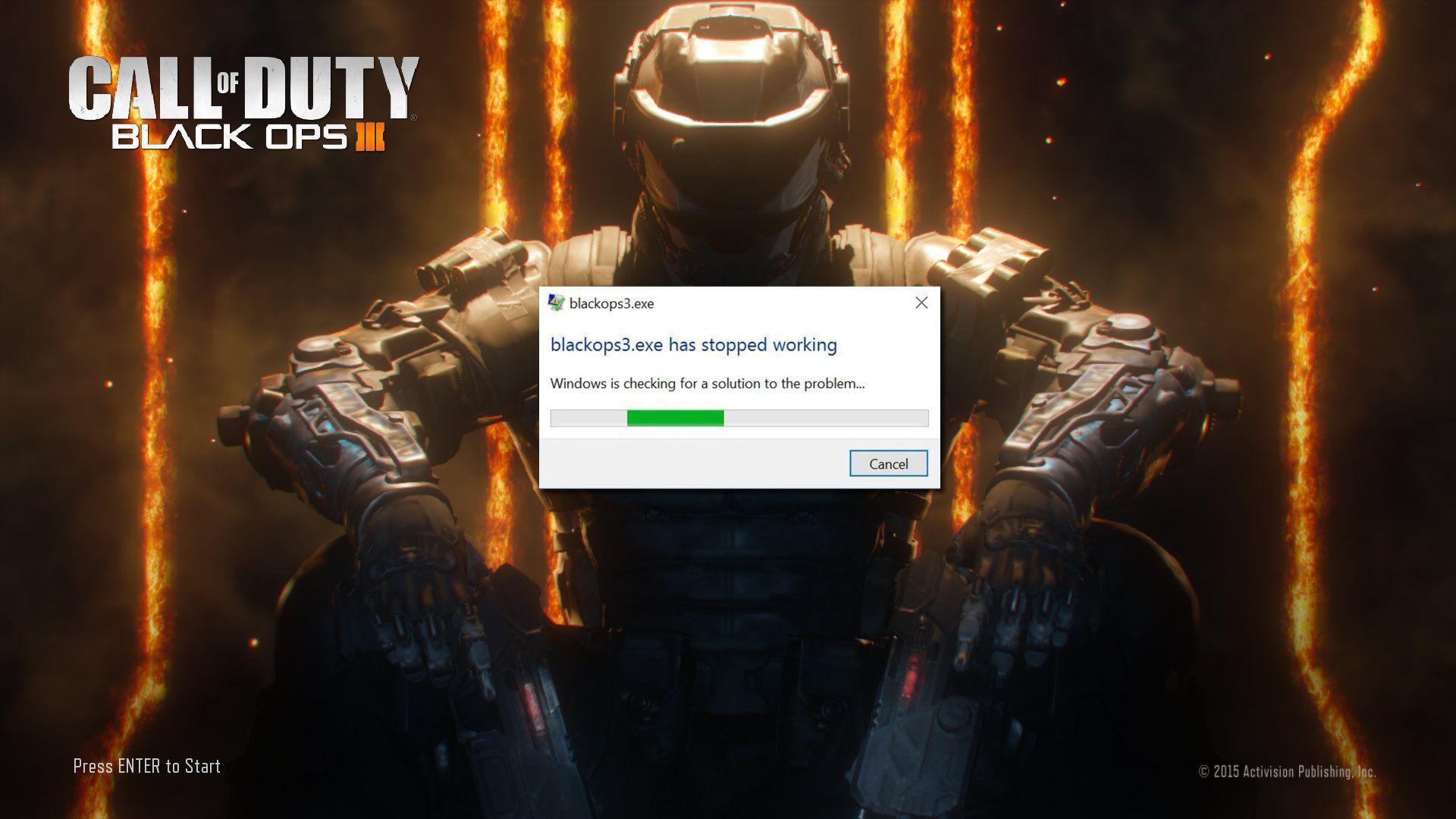 Black Ops 3 Çalışmayı Durdurdu Hatası