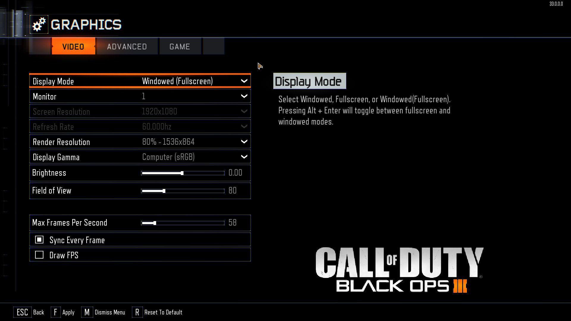 Black Ops 3 Kasma Sorunu Çözümü İçin Grafik Ayarları