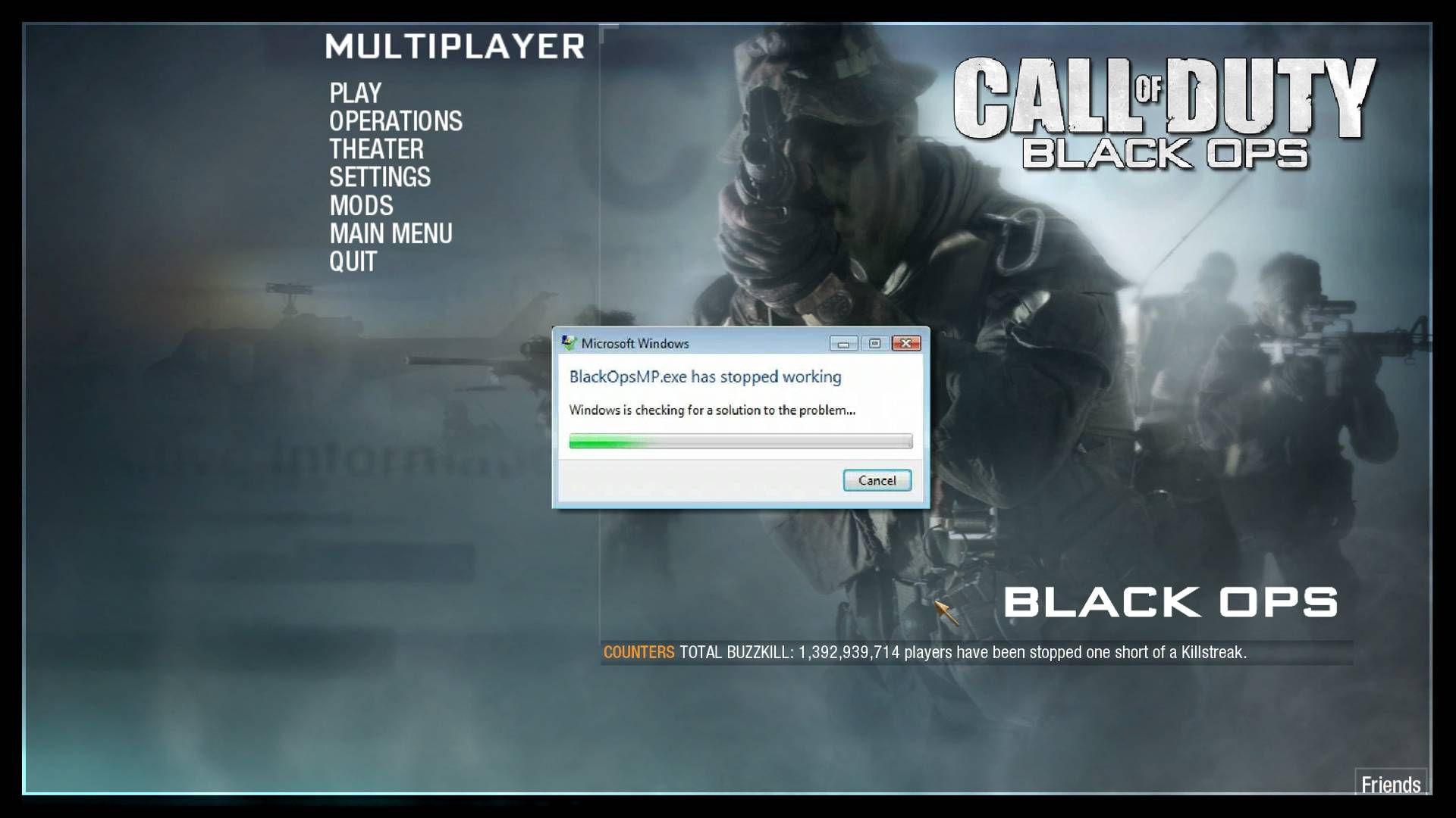 Call of Duty BlackOpsMP.exe Çalışmayı Durdurdu Hatası