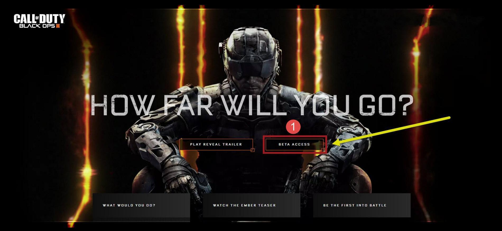 Call of Duty Black Ops 3 Multiplayer Beta Kayıt Olmak