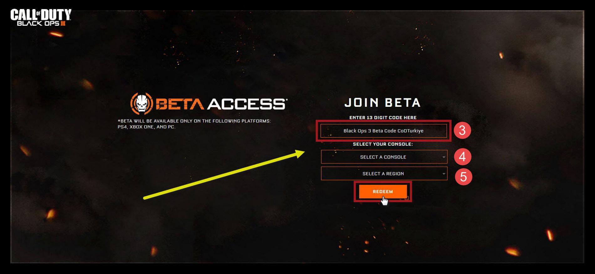 Call of Duty Black Ops 3 Multiplayer Beta Kayıt Olma İşlemleri