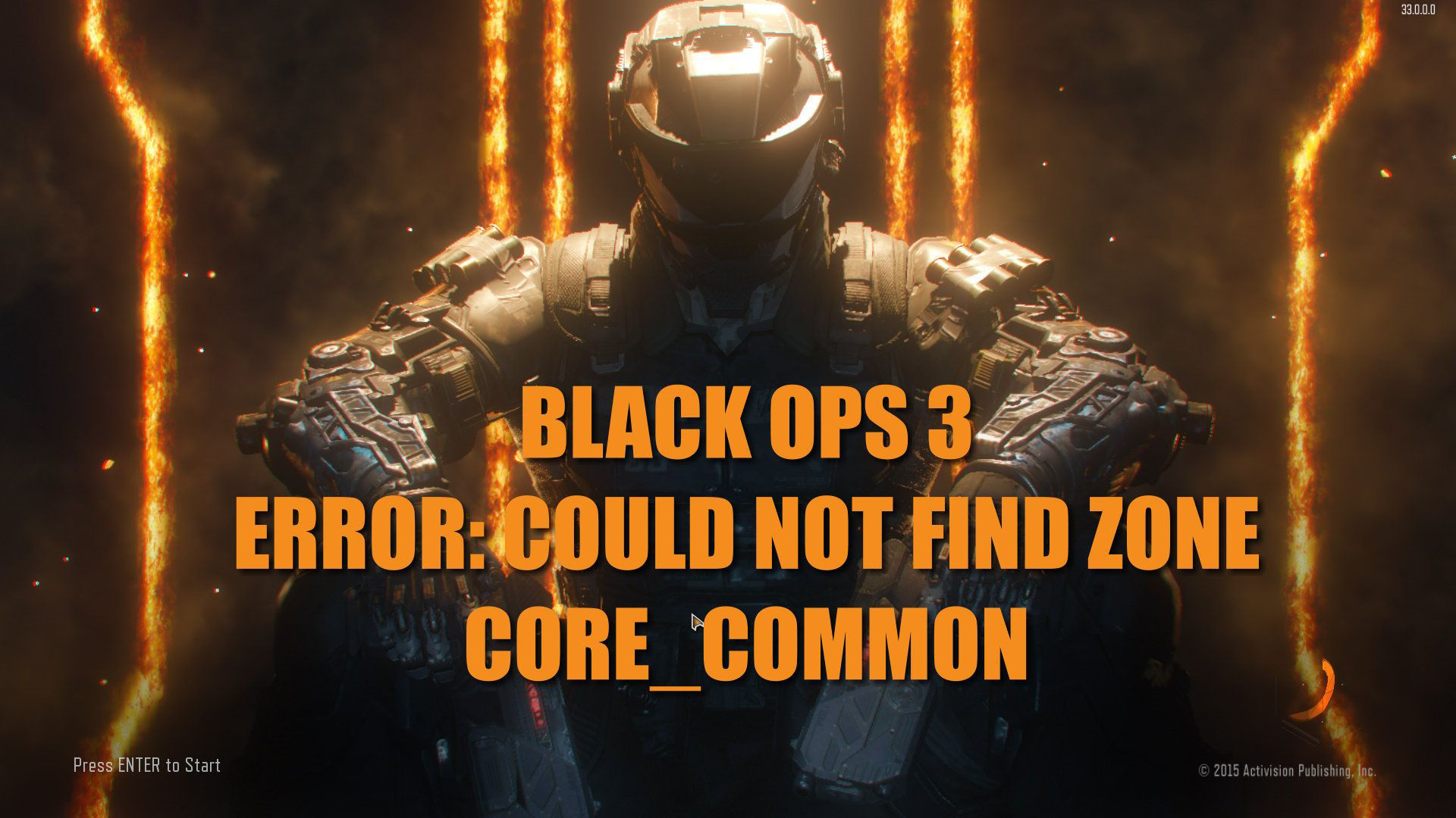Black Ops 3 ERROR: Could not find zone core_common hatası