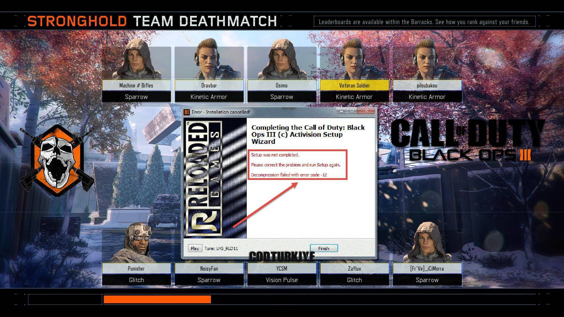 Black Ops 3 Decompression Failed Error