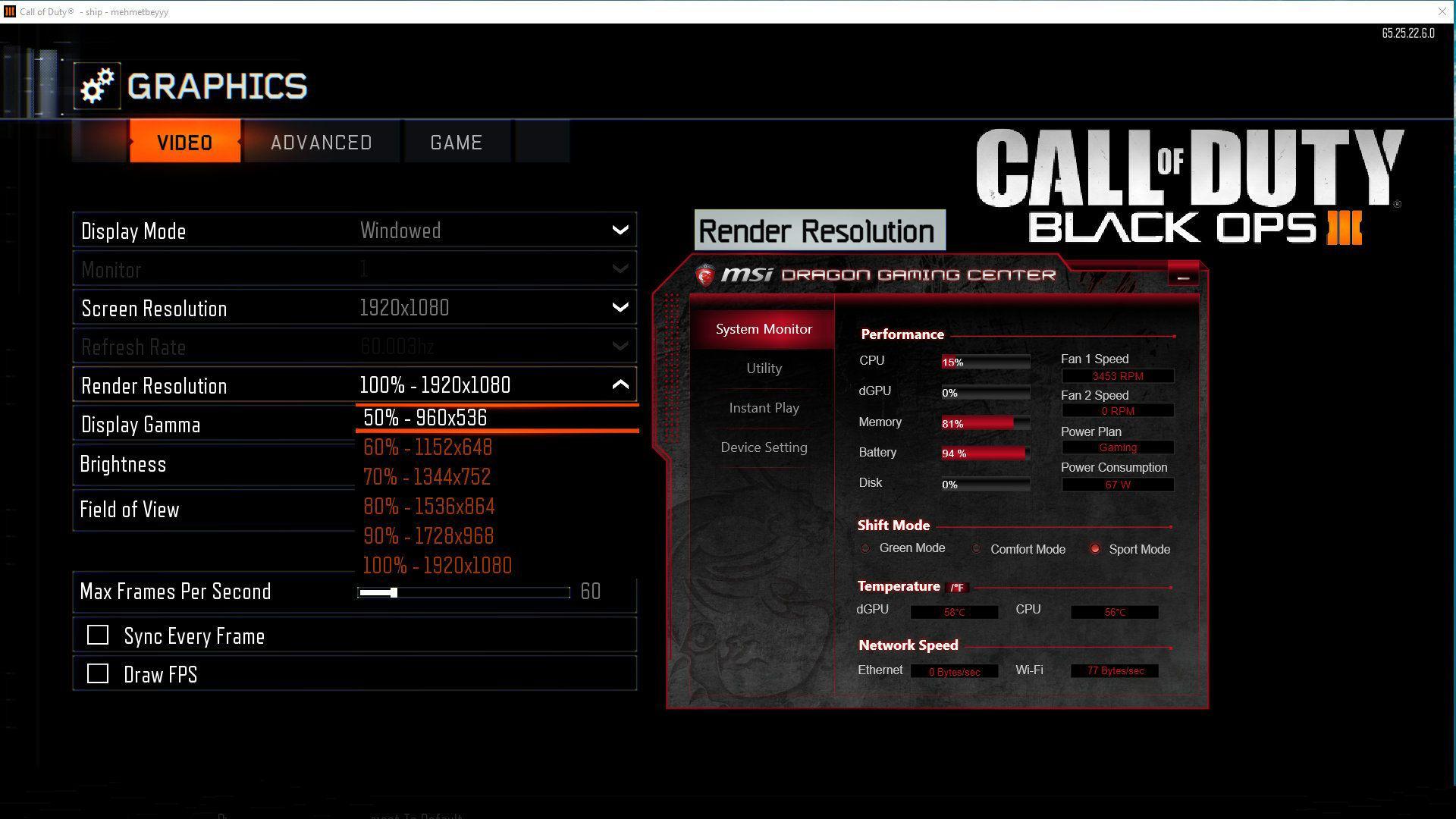 Black Ops 3 Kasma Sorunu