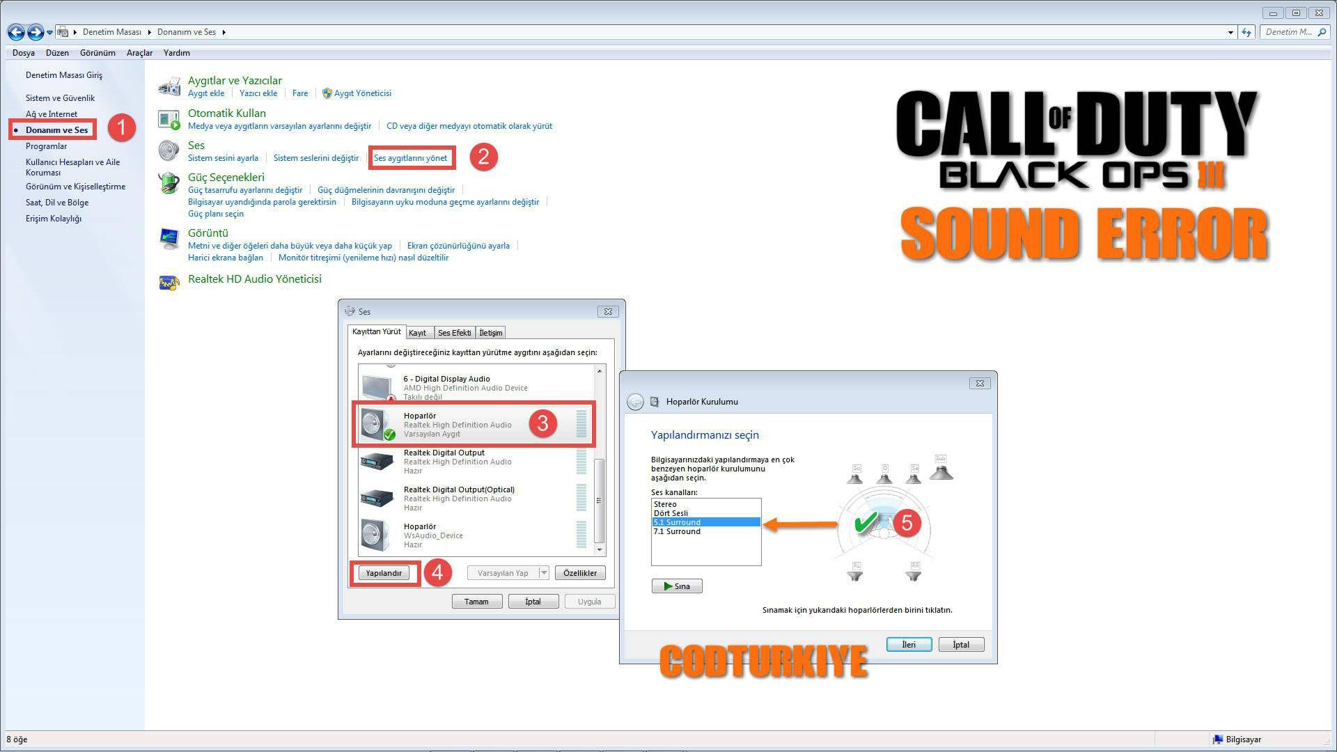 Black Ops 3 Ses Sorunu