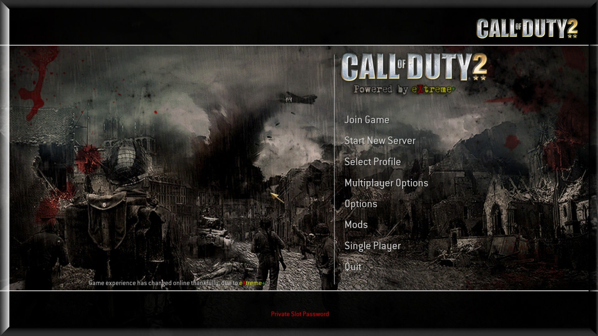 Call of Duty 2 eXtreme Mod Mainmenu Background