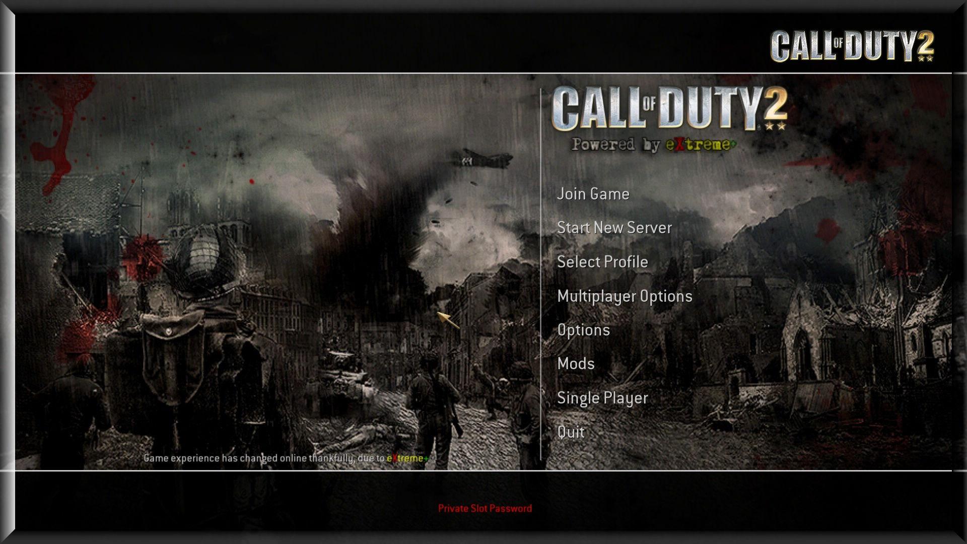 Call of Duty 2 eXtreme Mod Mainmenu Background
