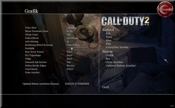 Call of Duty 2 Türkçe Yama