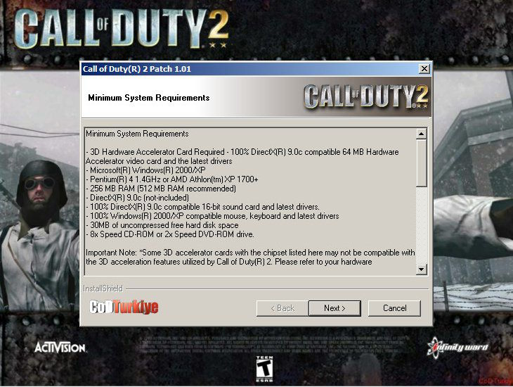 Call of Duty 2 Patch v.1.01