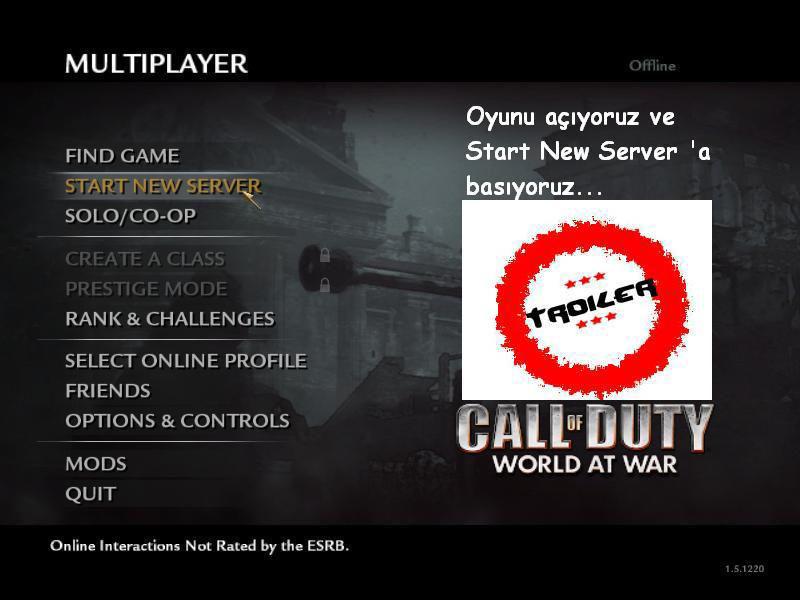 Call of Duty 5 World At War Botlu Oynamak Pezbot