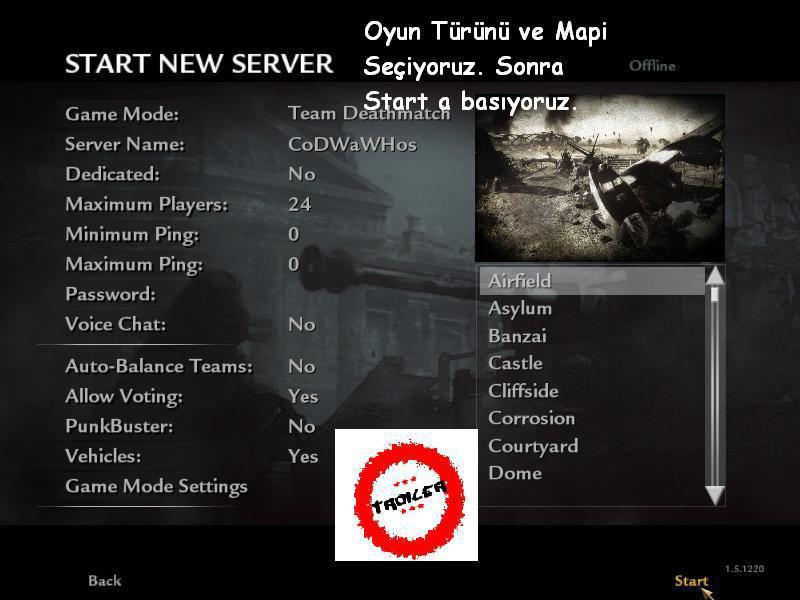 Call of Duty 5 World At War Botlu Nasıl Oynanır