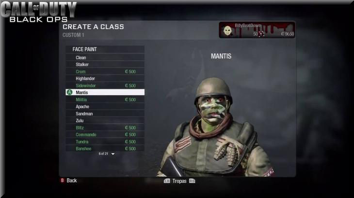 Call of Duty7 Black Ops Face Model
