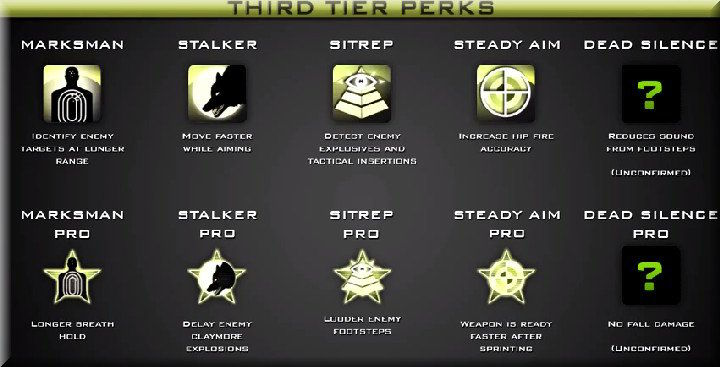 Call of Duty 8 Modern Warfare 3 Third Tier Perks