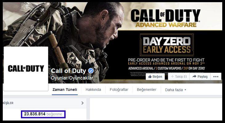 CallofDuty.com Facebook Sayfası