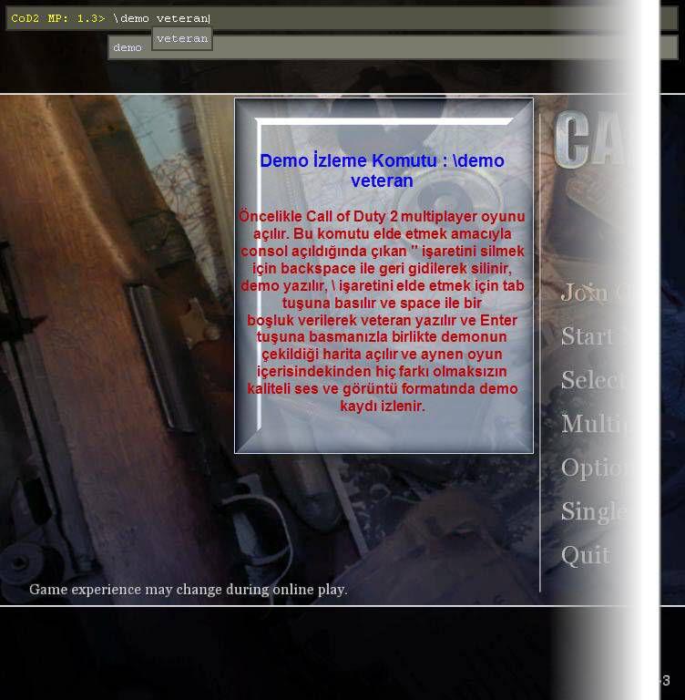 Call of Duty Demo İzlemek