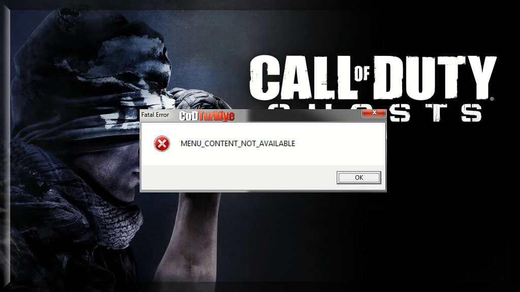 Call of Duty Ghosts Çalışmayı Menu Content Hatası