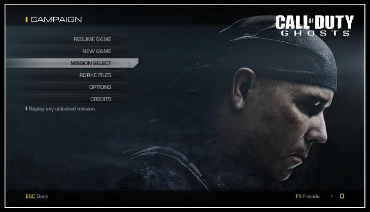 Call of Duty Ghosts Save Game