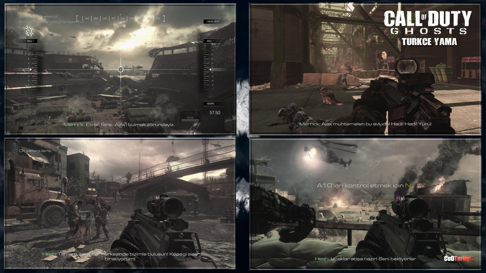 Call of Duty Ghosts Türkçe Yama Gameplay