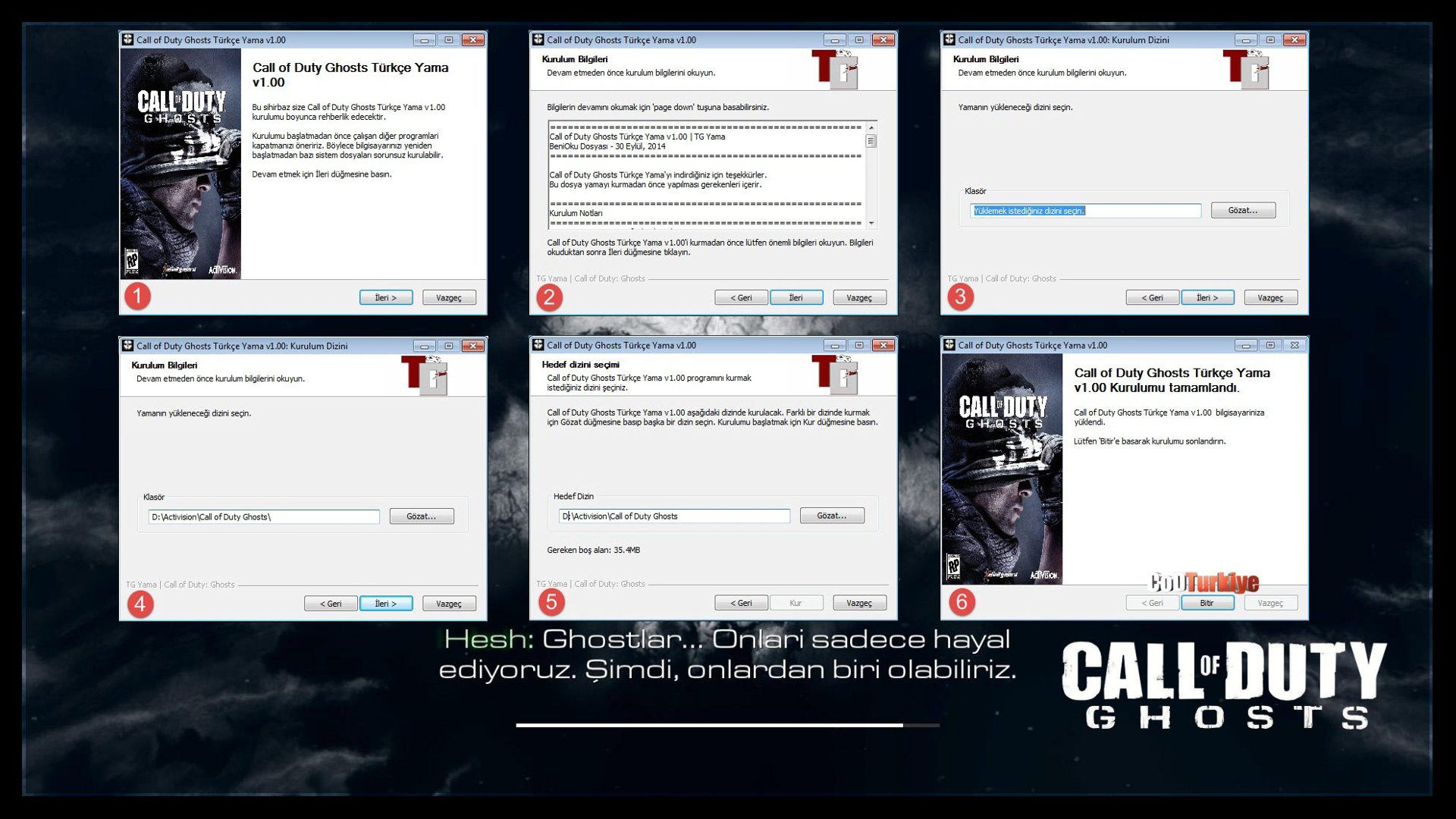 Call of Duty Ghosts Türkçe Yama Kurulum