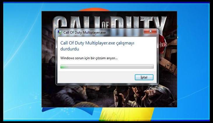 Call of Duty multiplayer.exe Çalışmayı Durdurdu