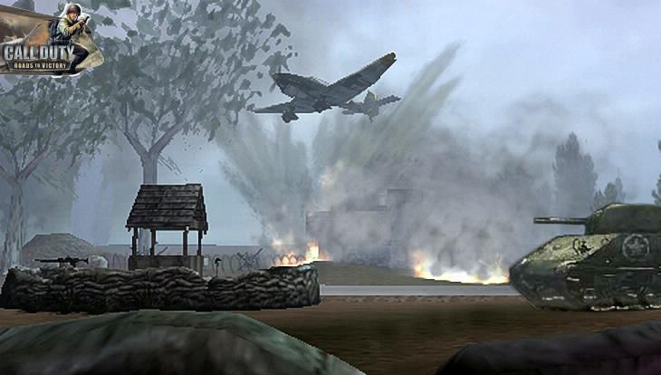 Call of Duty Roads to Victory Tank vs Plane