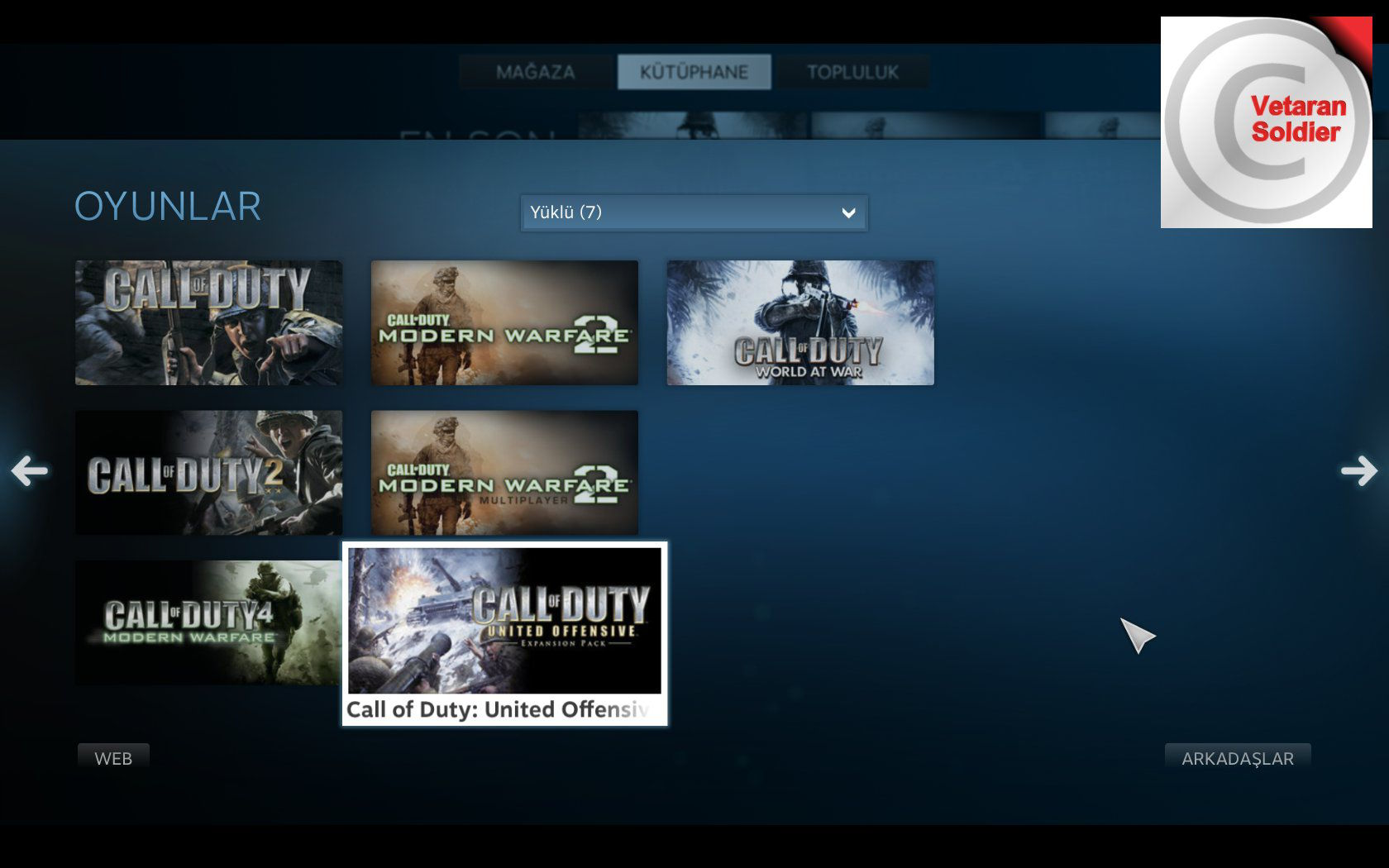 Call of Duty Steam Big Picture