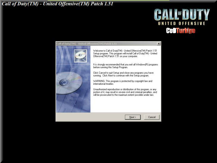 Call of Duty United Offensive v1.51 Patch