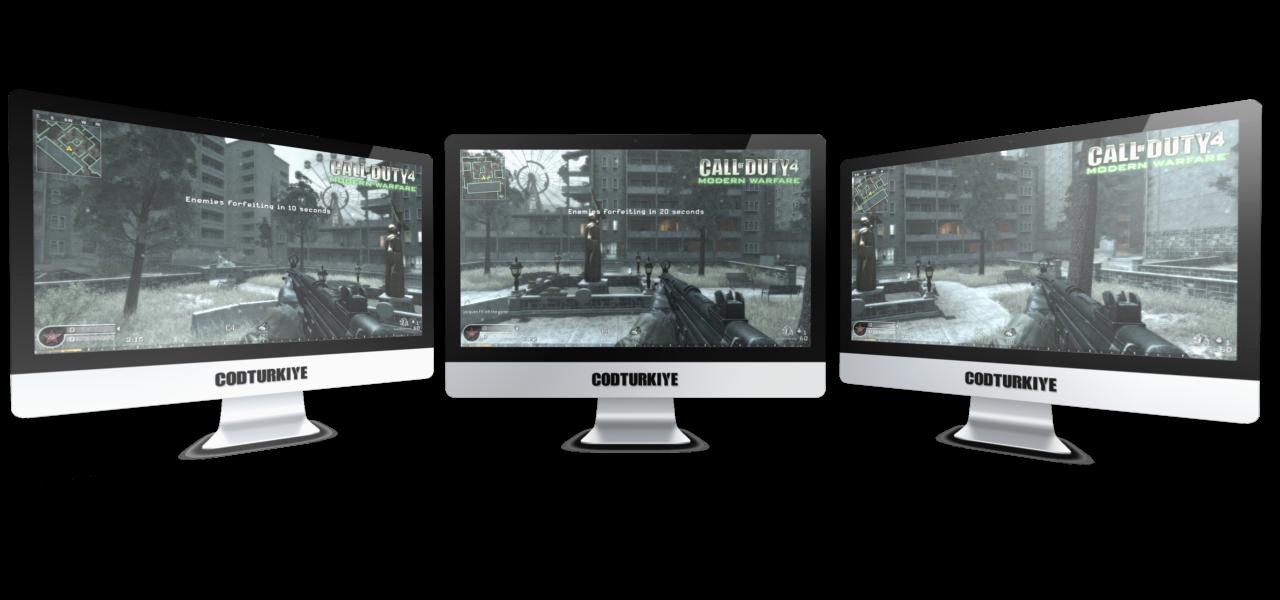 Call of Duty 4 Triple Monitor