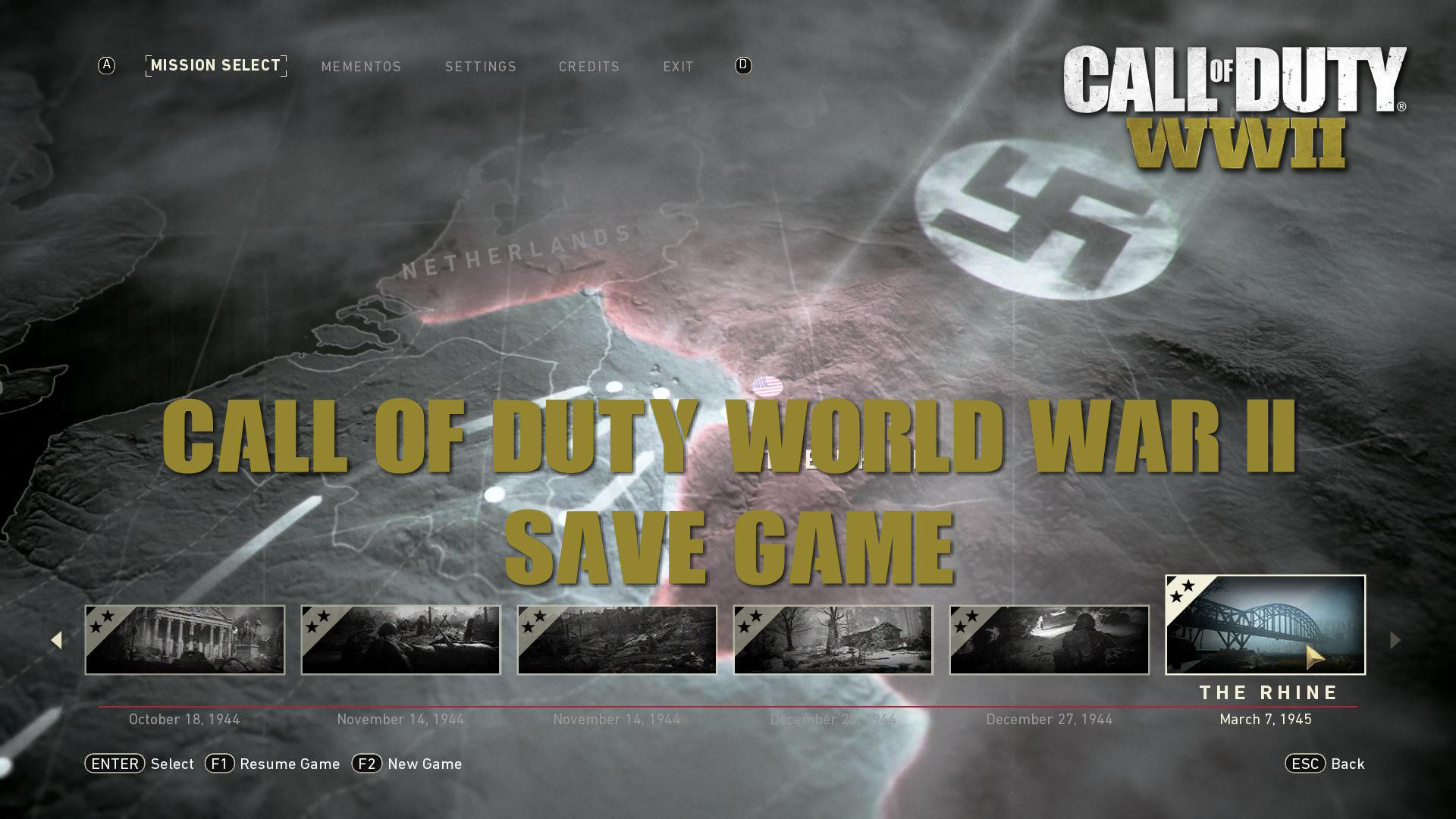 Call of Duty World War 2 Save Game