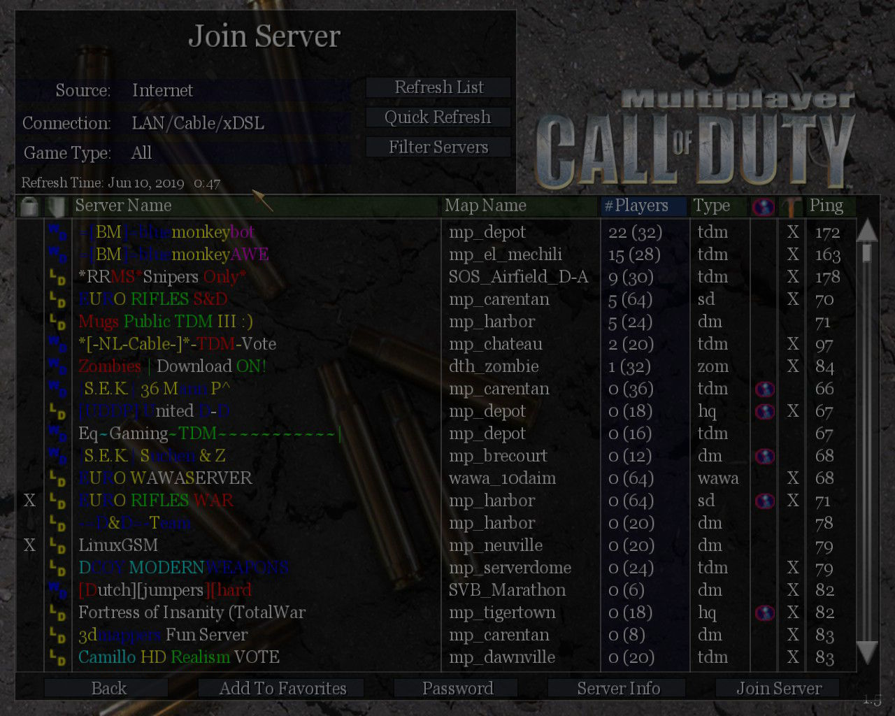Call of Duty Multiplayer Server Durumu