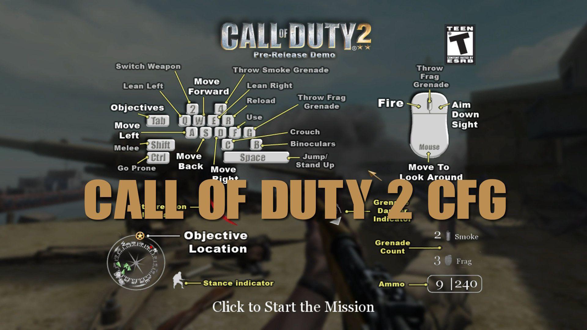 Call of Duty 2 .cfg Dosyası