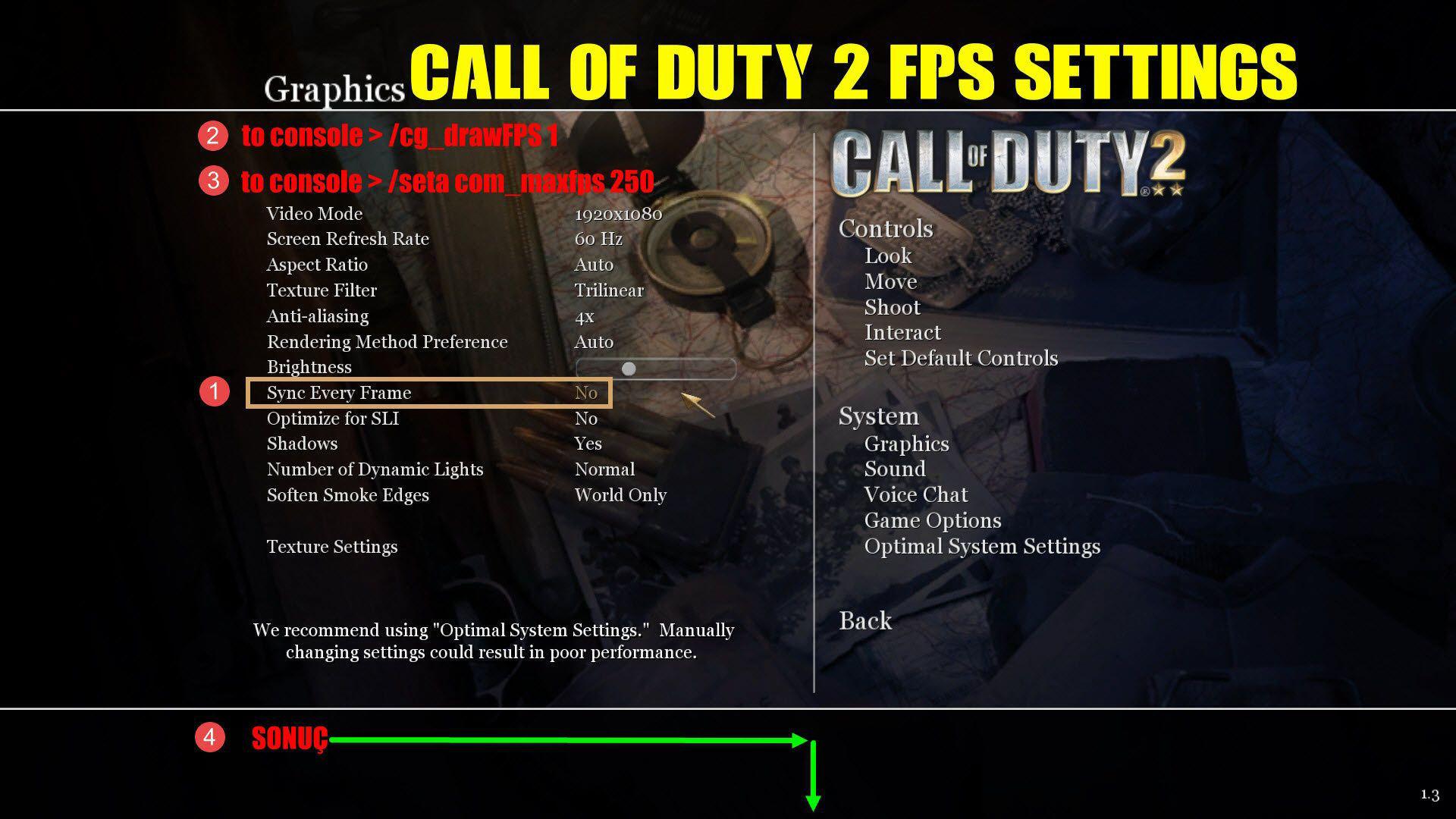 Call of Duty 2 FPS Ayarları Nasıl Yapılır?