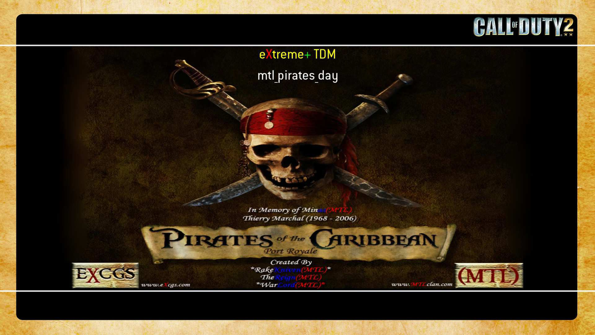 Call of Duty 2 Mtl Pirates Day Map