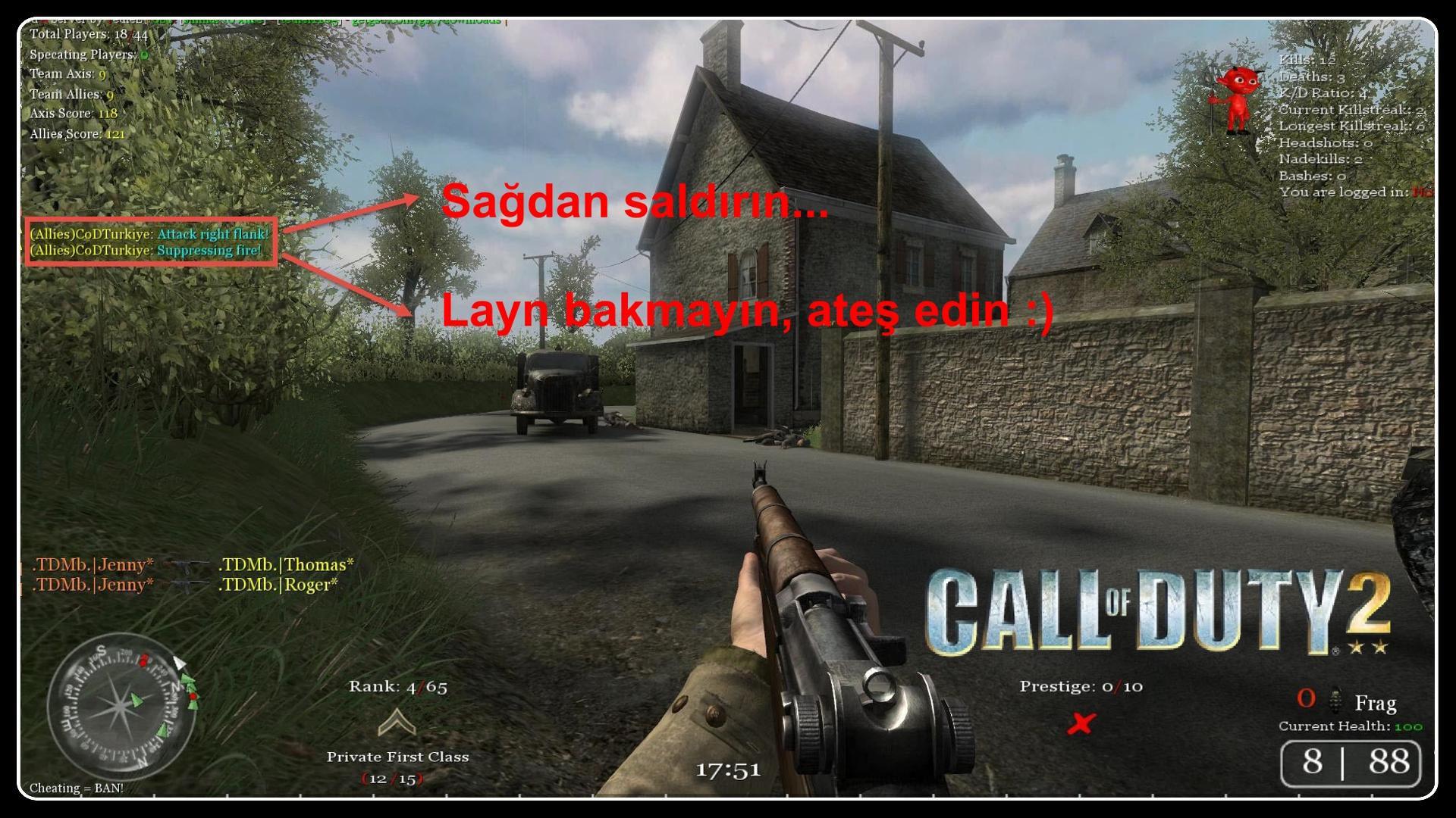Call of Duty 2 Multiplayer Türkçe Dublaj Yama İndir