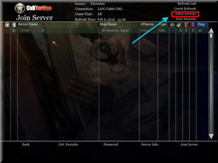 Call of Duty 2 Multiplayer Join Server Listesi