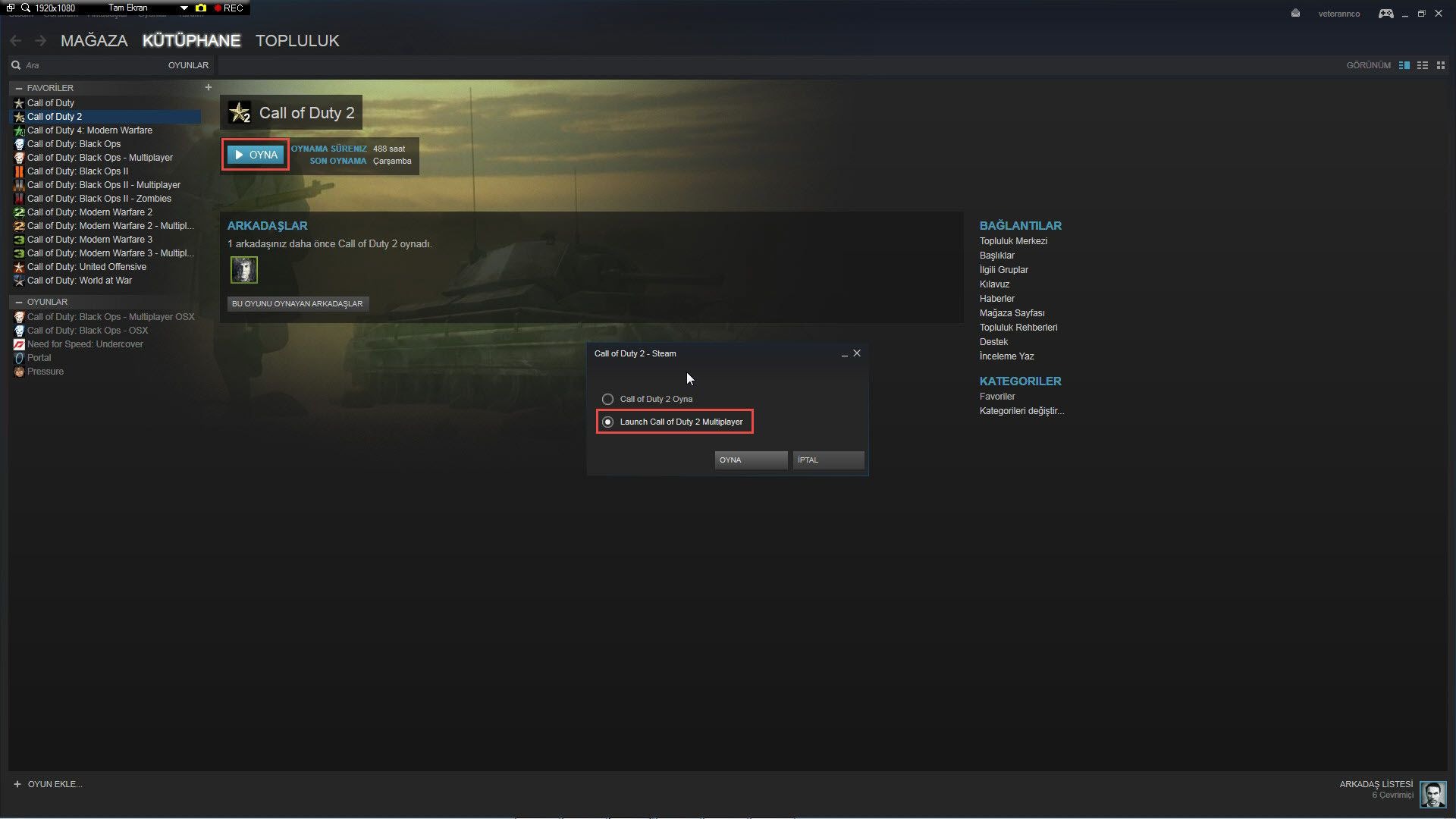 Call of Duty 2 Windows 10 Çalışma Sorunu