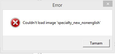 Call of Duty 4 Couldn't load image specialty_new_nonenglish Error