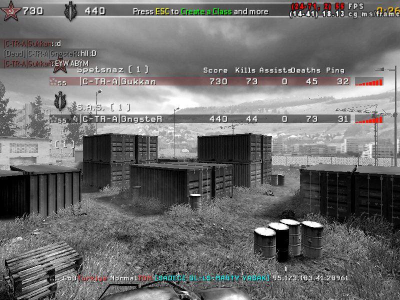 Call of Duty 4 Multiplayer Maç Sonucu
