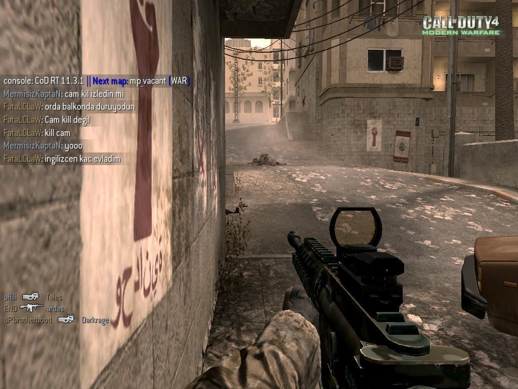 Call of Duty 4 Komik Resim Cam Kill