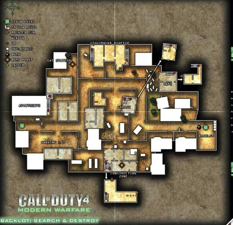 Call of Duty 4 Modern Warfare Map Backlot