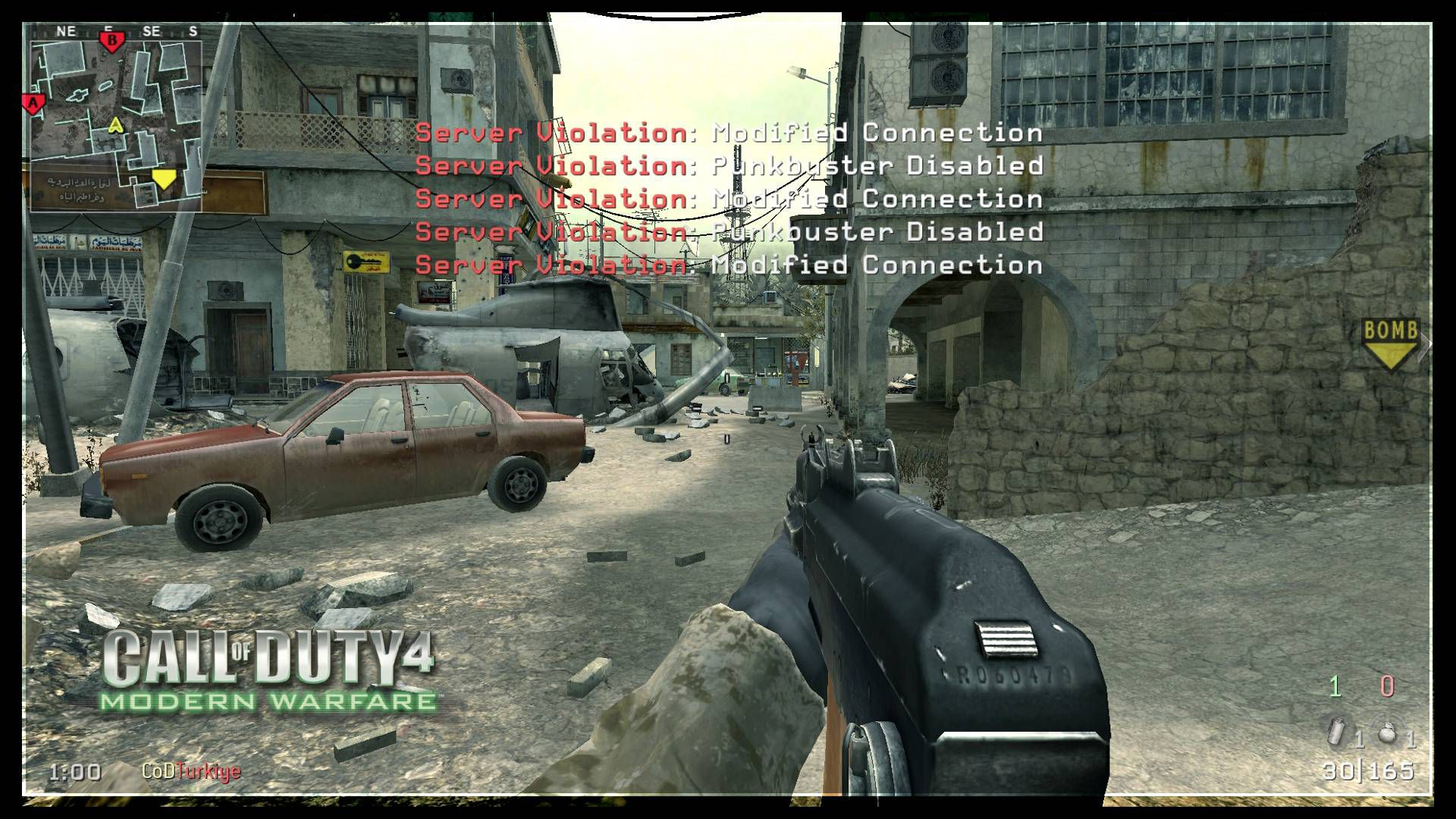 Call of Duty 4 Promod Server Vialation Punkbuster Disabled Modified Connection Error