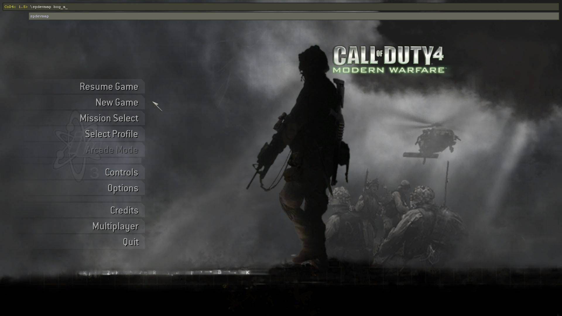 Call of Duty 4 Cheats spdevmap mapname